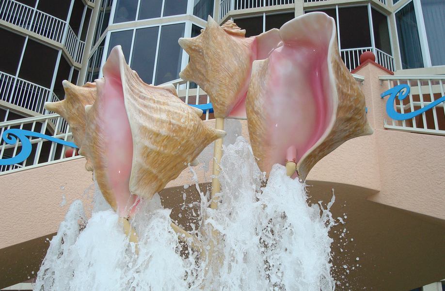 Attraction & Entertainment Solutions | Sculpture + Props | Shell Fountain