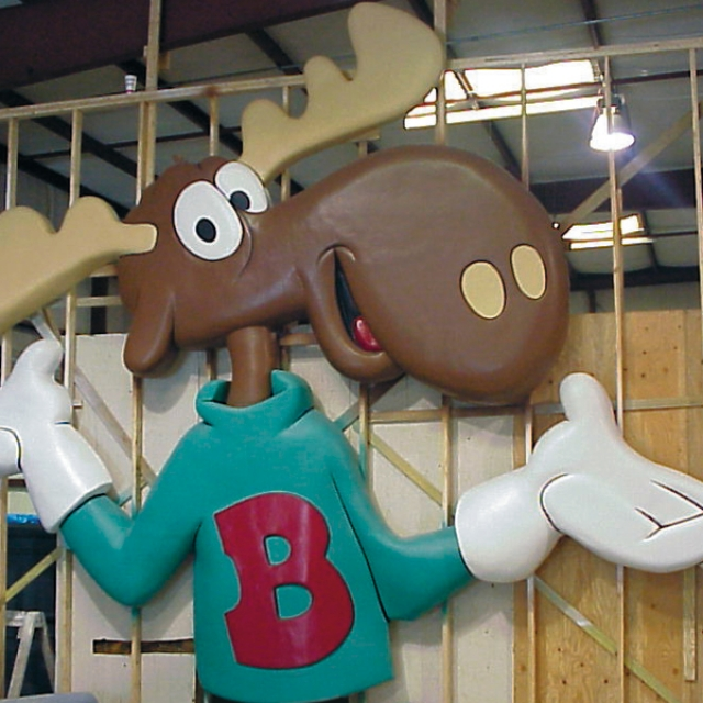 Attraction & Entertainment Solutions | Sculpture + Props | Bullwinkle
